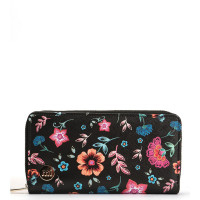 Mi-Pac Zip Purse Portemonnee Crafted Folk Black