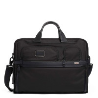 "Tumi Alpha 3 Compact Large Laptop Brief 17"" Black"