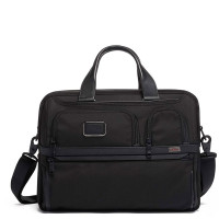 "Tumi Alpha Expandable Organizer Laptop 15"" Brief Black"