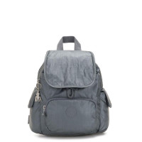 Kipling City Pack Mini Backpack Steel Grey Metal