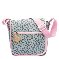 Zebra Trends Kinder Schoudertas met flap Leo Mint/ Pink