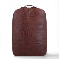 "FMME Claire Laptop Rugtas 15.6"" Croco Brown"