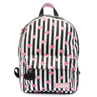 Zebra Trends Girls Rugzak M Stripes & Hearts