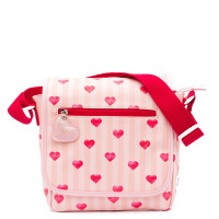 Zebra Trends Kinder Schoudertas met flap Stripes & Hearts Red