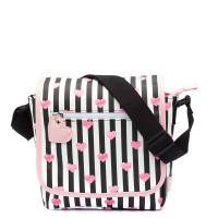 Zebra Trends Kinder Schoudertas met flap Stripes & Hearts Black