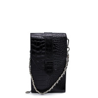 MŌSZ Phonebag Schoudertas Croco Black