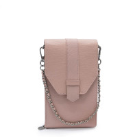 MŌSZ Phonebag Schoudertas Saffiano Pink Light