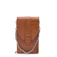 MŌSZ Phonebag Schoudertas Croco Cognac