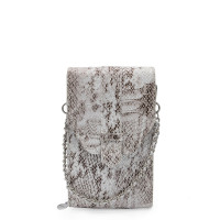 MŌSZ Phonebag Schoudertas Python White Brown