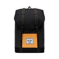 Herschel Retreat Rugzak Black Crosshatch/Black/Blazing Orange