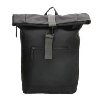 Charm London Neville Waterproof Roll Top Backpack Black