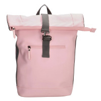 Charm London Neville Waterproof Roll Top Backpack Pink