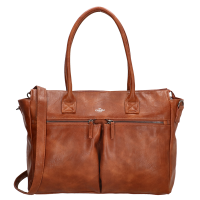 "Charm London Chelsea Shopper 15.6"" Cognac"