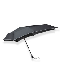 Senz Senz Mini Foldable Storm Paraplu Black Reflective