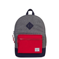 Herschel Heritage Youth Rugzak Raven Crosshatch/Peacoat/Red