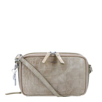 LouLou Essentiels Vintage Croco Silver Camera Bag Taupe
