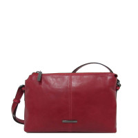 Claudio Ferrici Pelle Vecchia Crossbag Red 22050
