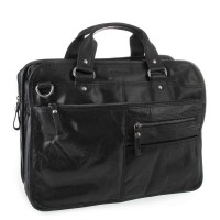 Spikes & Sparrow Bronco Business Bag A4 Black 23637