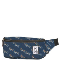 The Pack Society The Bum Bag Dark Blue Wolf Allover