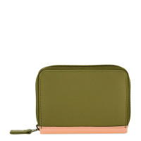 Mywalit Zip Around Credit Card Holder Olive