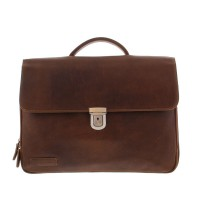 "Plevier Vintage Tanned Business/ Laptoptas 3-vaks 15.6"" Brown 33"