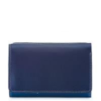 Mywalit Medium Tri-Fold Wallet Outer Zip Portemonnee Denim