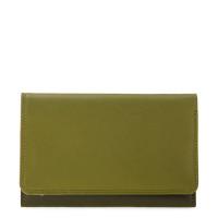 Mywalit Medium Tri-Fold Wallet Outer Zip Portemonnee Olive