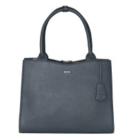 "Socha Diamond Leather Businessbag 10-14"" Grey"