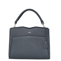 "Socha Diamond Leather Shoulder Businessbag 12-14"" Grey"