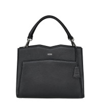 "Socha Diamond Leather Shoulder Businessbag 12-14"" Black"