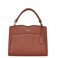 "Socha Diamond Leather Shoulder Businessbag 12-14"" Cognac"
