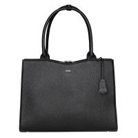 "Socha Diamond Leather Businessbag 15.6"" Black"