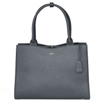 "Socha Diamond Leather Businessbag 15.6"" Grey"