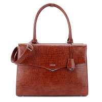 "Socha Businessbag Silver Tip 15.6"" Brown"