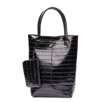 Zebra Trends Natural Bag Kartel Croco Black