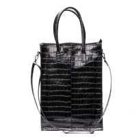 Zebra Trends Natural Bag Rosa XL Croco Black