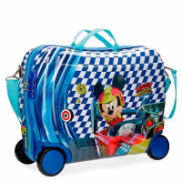 Disney Rolling Suitcase 4 Wheels Mickey Race