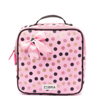 Zebra Trends Kinder Rugzak Wild Dots Glitter Pink Met Strik