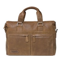 "Plevier Business/ Laptoptas Crunch 2-Vaks 15.6"" Cognac 472"