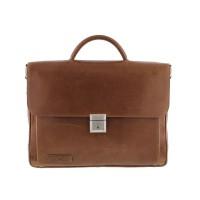 "Plevier Business/Laptoptas 2-Vaks 15.6"" Cognac 476"