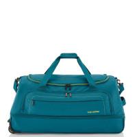 Travelite Basics Wheelbag Reistas Foldable In Bag Petrol/Lemon