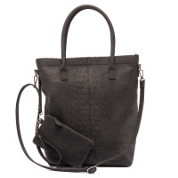 Zebra Trends Natural Bag Kartel Rits Croco Black