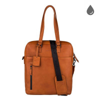 "Burkely Rain Riley Shopper 15"" Corroded Cognac"