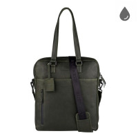 "Burkely Rain Riley Shopper 15"" Oil Green"