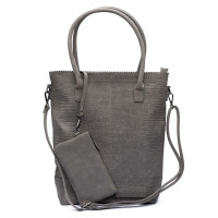 Zebra Trends Natural Bag Kartel Rits Croco Grey 552203