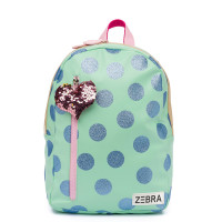 Zebra Trends Kinder Rugzak M Glitterdots Mint