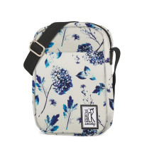 The Pack Society The Small Shoulderbag Off White Blue Flower Allover