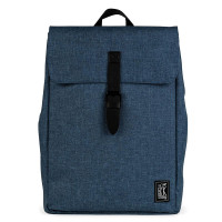 The Pack Society The Square Backpack Rugzak Light Blue Duo Tone