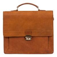 Burkely Vintage Scott Briefcase Cognac