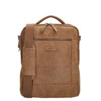 """Enrico Benetti Nikki Backpack WIth Shoulder Strap 14"""" Camel"""
